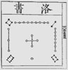 Chinese image of the 3x3 Lo-Shu magic square